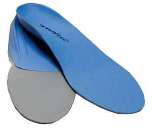 Blue active Superfeet orthotics
